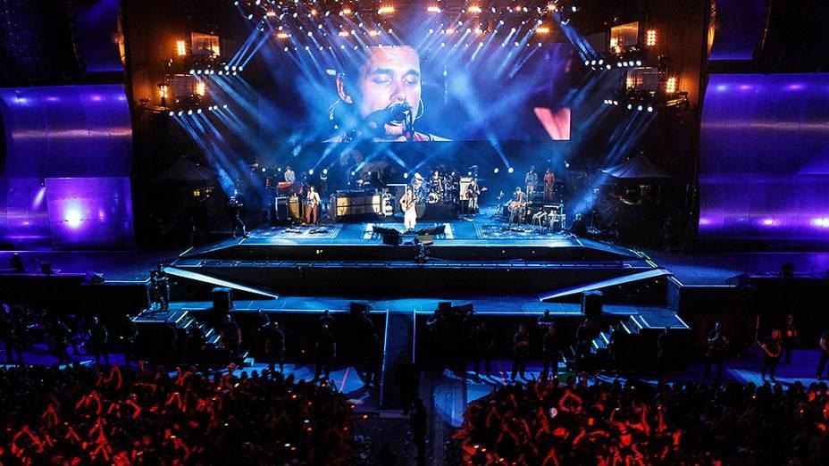 John Mayer durante show no Rock in Rio 2013
