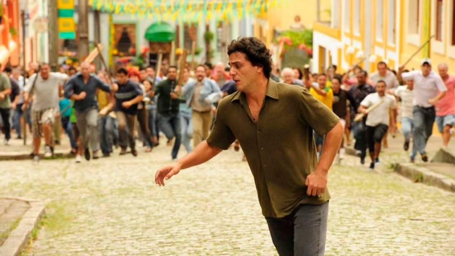 Rodrigo Lombardi durante cena da novela O Astro da Rede Globo