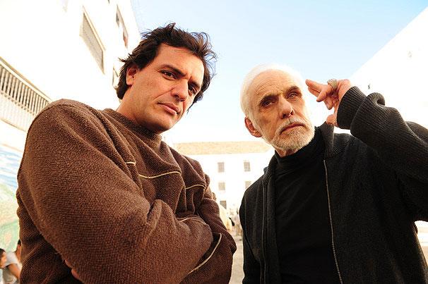 Herculano (Rodrigo Lombardi) e seu tutor (Francisco Cuoco, o Herculano original)