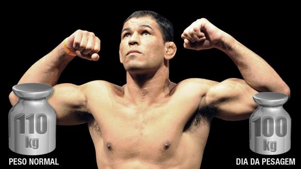 """Rodrigo Minotauro, peso-pesado, pode perder 10 quilos na pesagem, segundo seu preparador físico, Diogo Souza, para """"ganhar agilidade"""""""