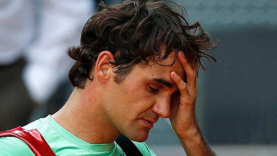 Roger Federer após partida contra Kei Nishikori, do Japão