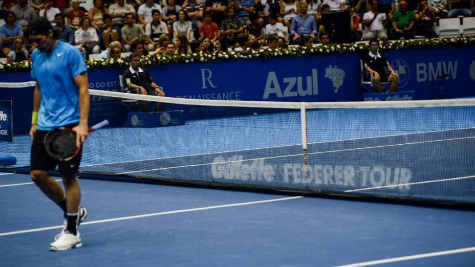 Roger Federer vence Tommy Haas neste domingo (09/12), em partida de exibição no Ginásio do Ibirapuera, em São Paulo