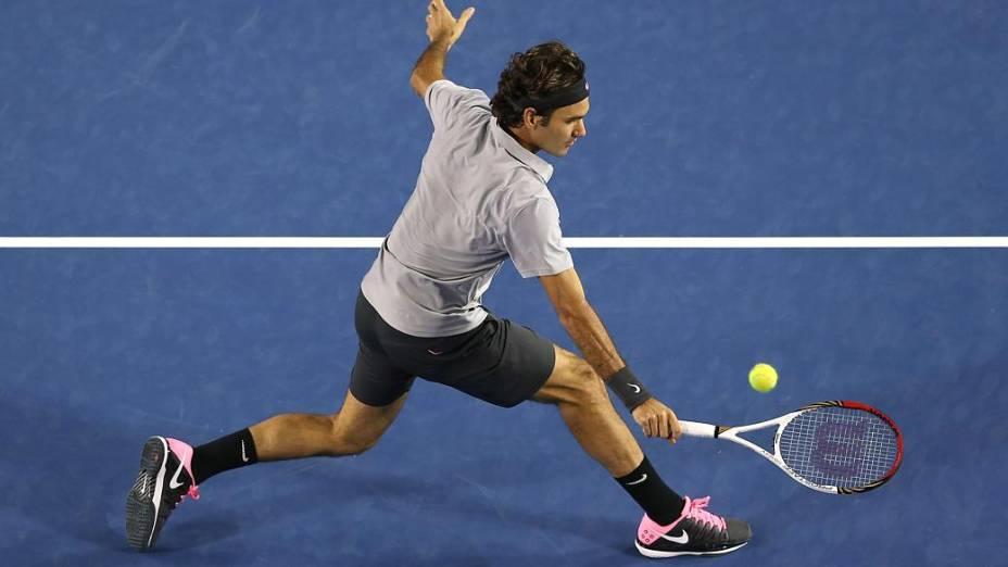 Roger Federer venceu o canadense Milos Raonic