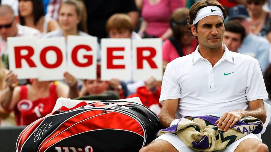 Número 3 do tênis, Roger Federer venceu na 2ª rodada de Wimbledon