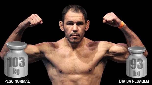 Rogério Minotouro, meio-pesado, perde 10 quilos para a pesagem