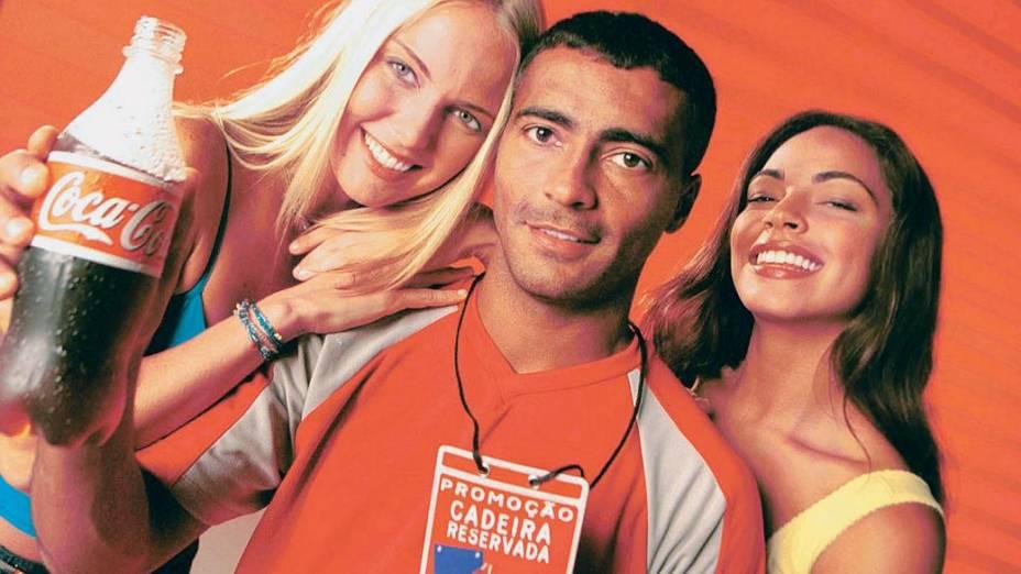 Romário em propaganda da Coca-Cola