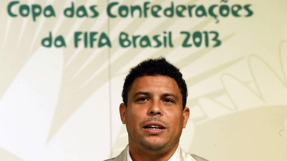 Ronaldo promove a Copa das Confederações em Madri, Espanha