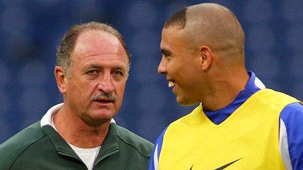 Scolari treinou Ronaldo na Copa do Mundo de 2002