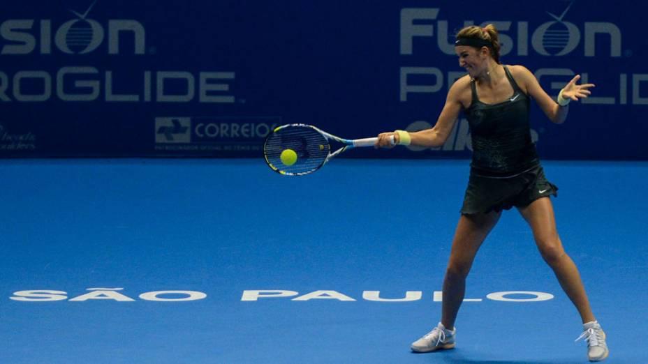 Victoria Azarenka vence Serena Williams neste sábado (08/12),em partida de exibição pelo Gillette Roger Federer Tour em São Paulo no ginásio do Ibirapuera