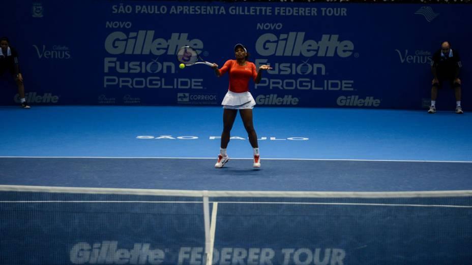 Serena Williams enfrenta Victoria Azarenka neste sábado (08/12),em partida de exibição pelo Gillette Roger Federer Tour em São Paulo no ginásio do Ibirapuera