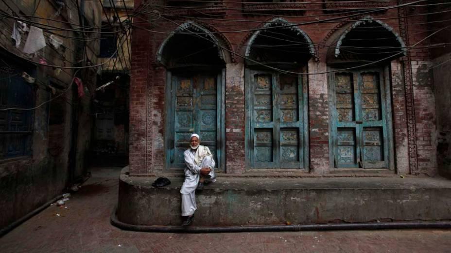 A região antiga da cidade de Lahore, no Paquistão