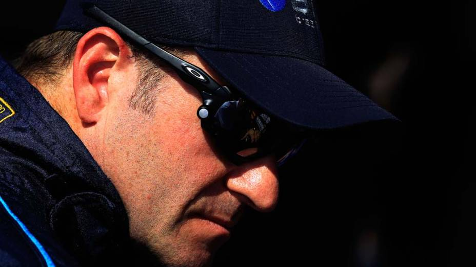 Rubens Barrichello durante o treino da fórmula Indy, na Flórida
