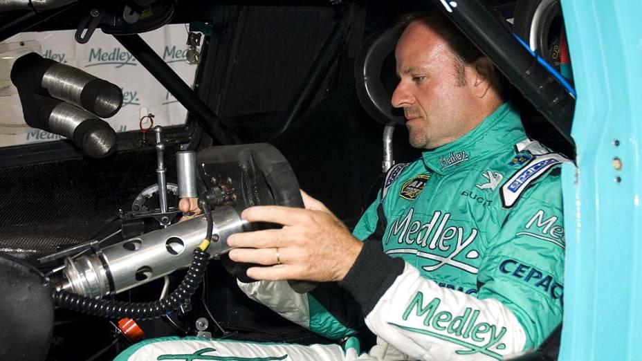 Rubens Barrichello nos primeiros treinos da Stock Car