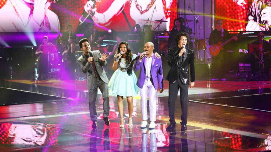 Rubens Daniel, Lucy Alves, Pedro Lima e Sam Alves na final do The Voice Brasil