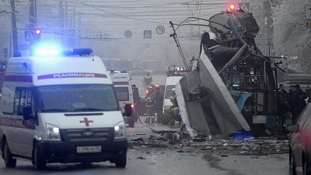 Explosão destruiu ônibus na Rússia: o atentado aumentou temor de terrorismo antes do início da Olimpíada de Inverno, em Sochi