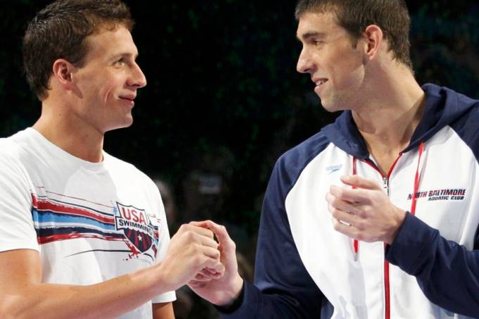 Ryan Lochte e Michael Phelps, dois dos maiores nadadores da atual delegação americana