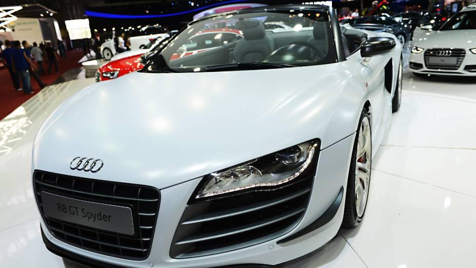 Audi R8 GT Spyder - Outro modelo exclusivo da marca alemã. Também limitado em 333 unidades, o esportivo traz um motor V10 5.2 de 510 cv e capaz de acelera o conversível até 317 km/h