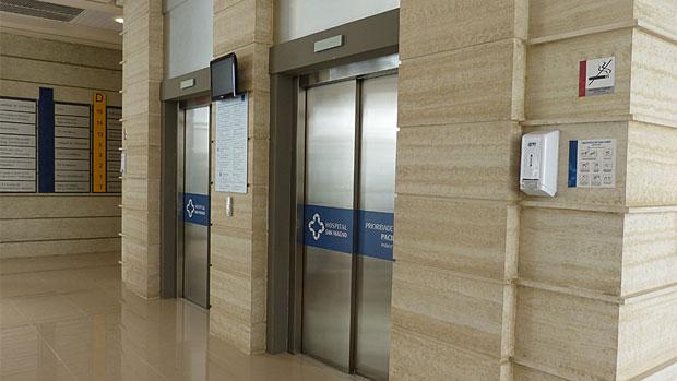 Hall do hospital San Magno, na novela <em>Amor à Vida</em>