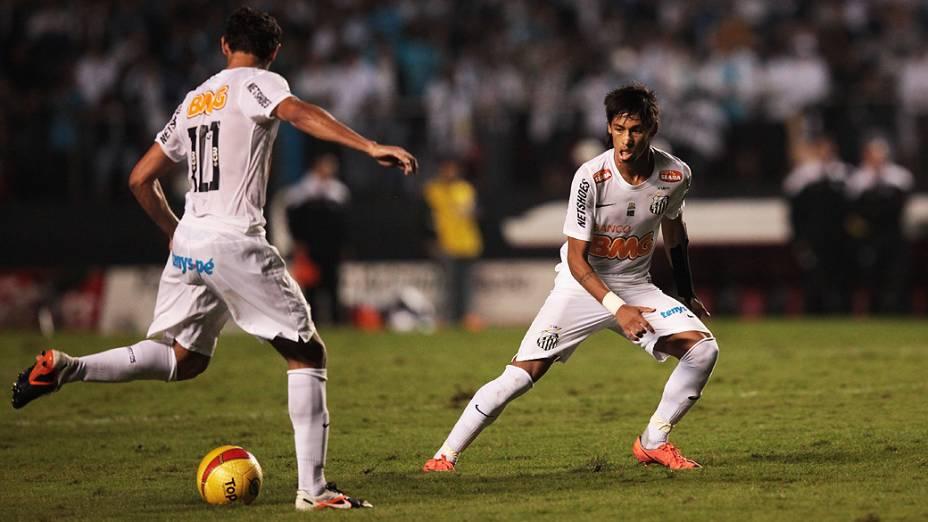 Ganso em lance da partida contra o Guarani, no estádio do Morumbi, em São Paulo