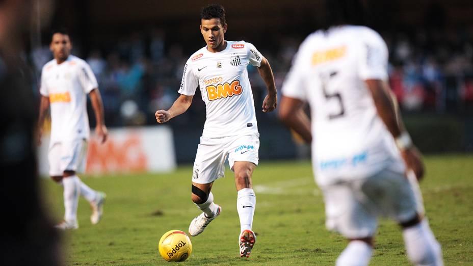 Lance da partida entre Santos e Guarani na final do Paulistão, no estádio do Morumbi, em São Paulo