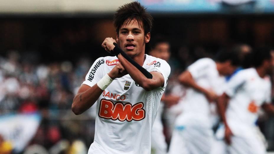 Comemoração do gol de Neymar, do Santos