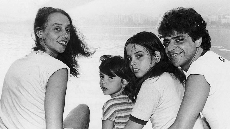 Scarlet Moon com Lulu Santos e as filhas, Teodora e Gabriela