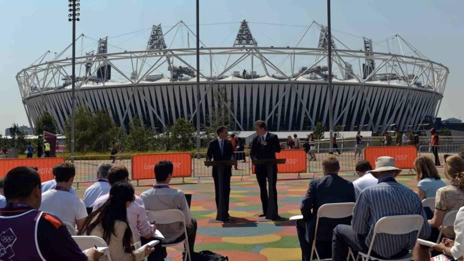 David Cameron em entrevista coletiva na véspera da abertura da Olimpíada