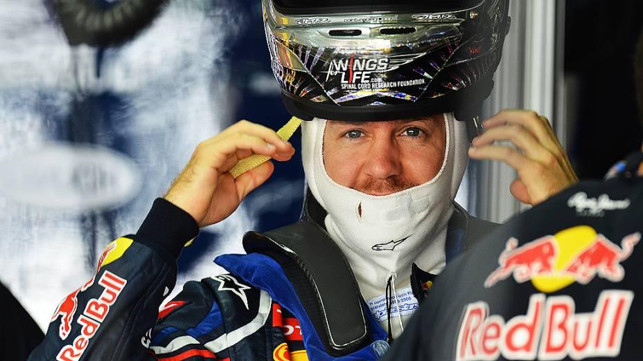 Sebastian Vettel neste sábado (24/11), em Interlagos