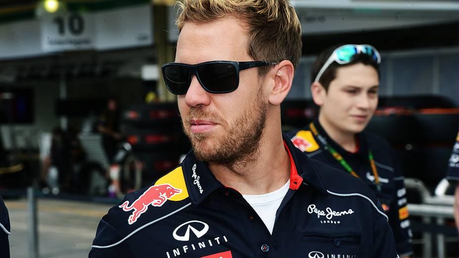 Vettel no circuito de Interlagos, em São Paulo