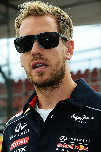 Sebastian Vettel no circuito de Interlagos, em São Paulo