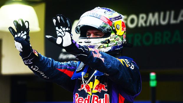 Sebastian Vettel, campeão do Grande Prêmio do Brasil<br><br>