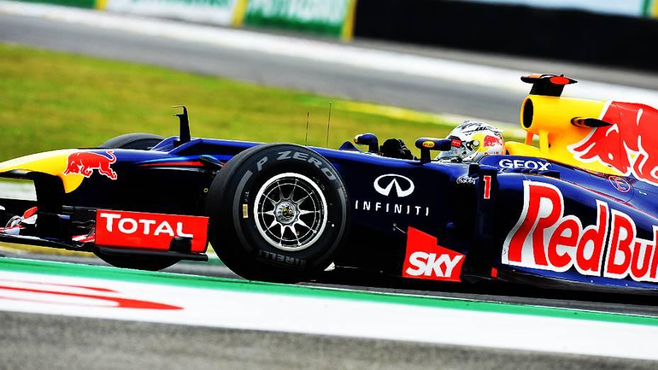 Sebastian Vettel, da Red Bull, durante treino classificatório para o GP do Brasil