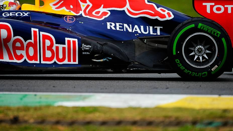 Sebastian Vettel durante o GP do Brasil de Fórmula 1, em Interlagos