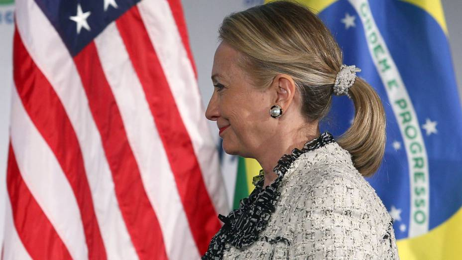 A secretária de Estado dos Estados Unidos, Hillary Clinton, falou na Câmara de Comércio Americana em Washington