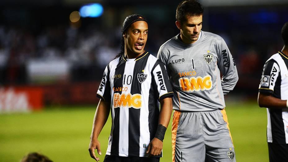 Ronaldinho do Atlético-MG contra o São Paulo pela última rodada da fase de grupos da Copa Libertadores 2013