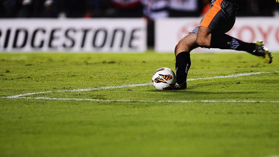 Goleiro Victor, do Atlético-MG contra o São Paulo pela última rodada da fase de grupos da Copa Libertadores 2013