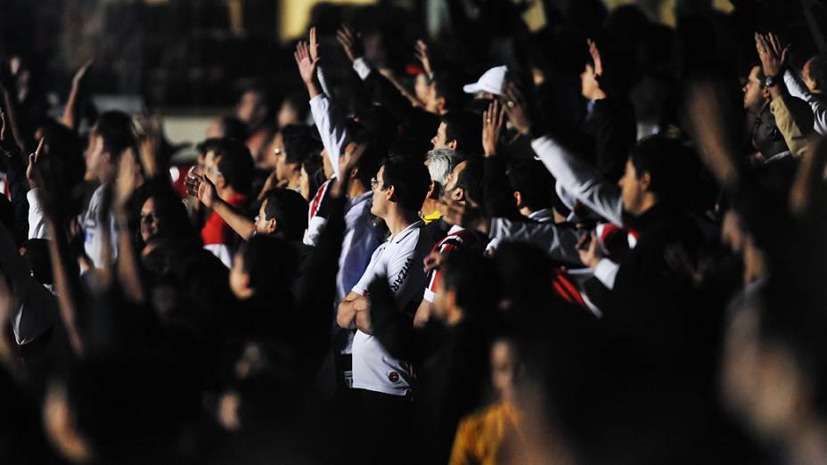 Torcedores do São Paulo durante a partida contra o Atlético-MG no estádio do Morumbi