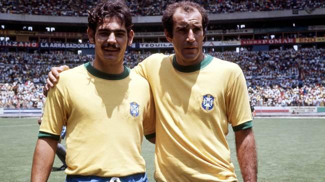 Rivelino e Tostão, em 1970