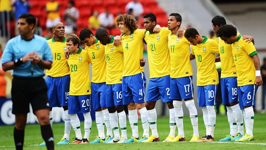 Amistoso entre Brasil e Austrália no estádio Mané Garrincha em Brasília