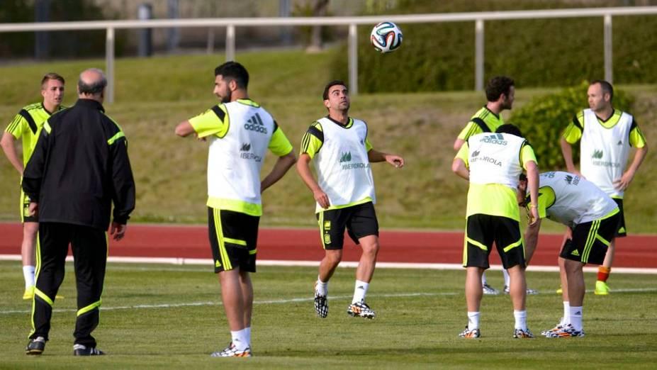 O início dos preparativos da seleção da Espanha para a Copa do Mundo de 2014
