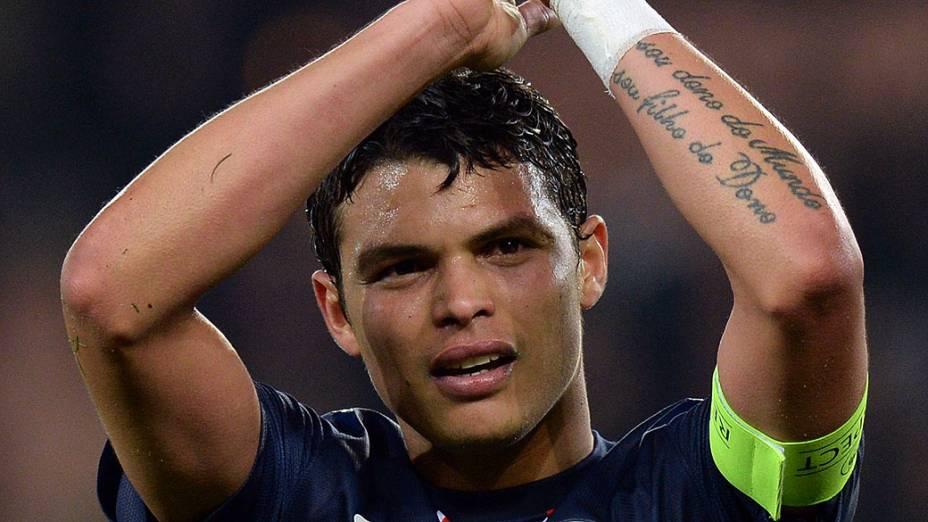 O zagueiro Thiago Silva do Paris Saint-Germain