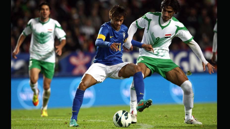 Neymar durantepartida contra o Iraque
