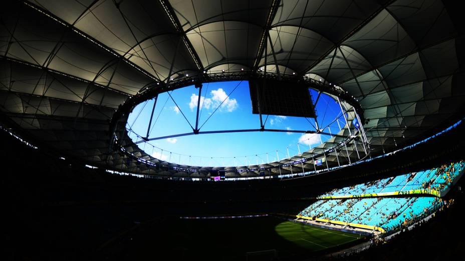 Brasil vence a Itália na Arena Fonte Nova em Salvador, pela Copa das Confederações