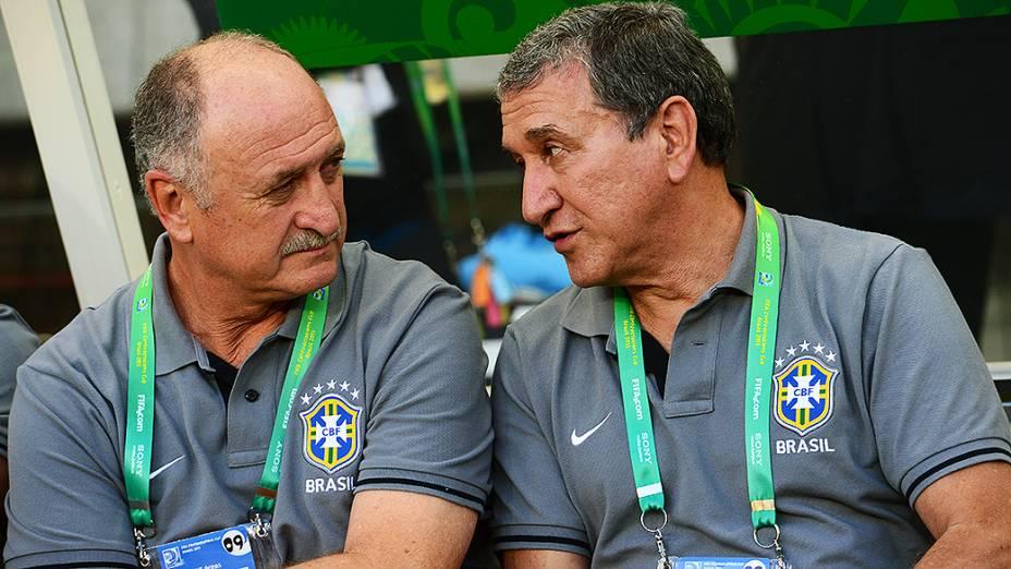 Luiz Felipe Scolari e Carlos Alberto Parreira