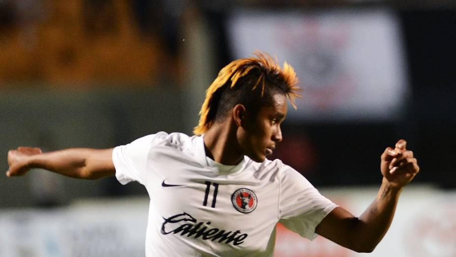 Martinez, o Neymar do Tijuana antes da partida contra o Corinthians no Pacaembu