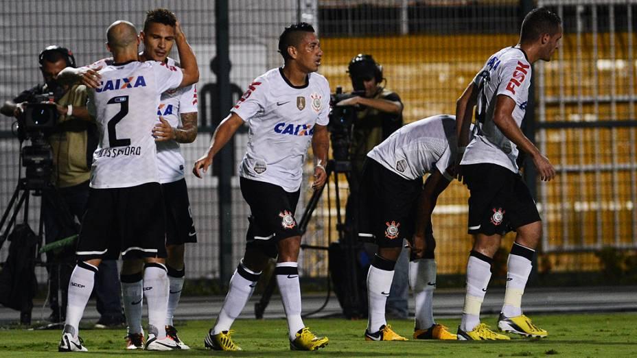 Guerrero, do Corinthians comemora o gol sobre o Tijuana, no jogo pela Libertadores