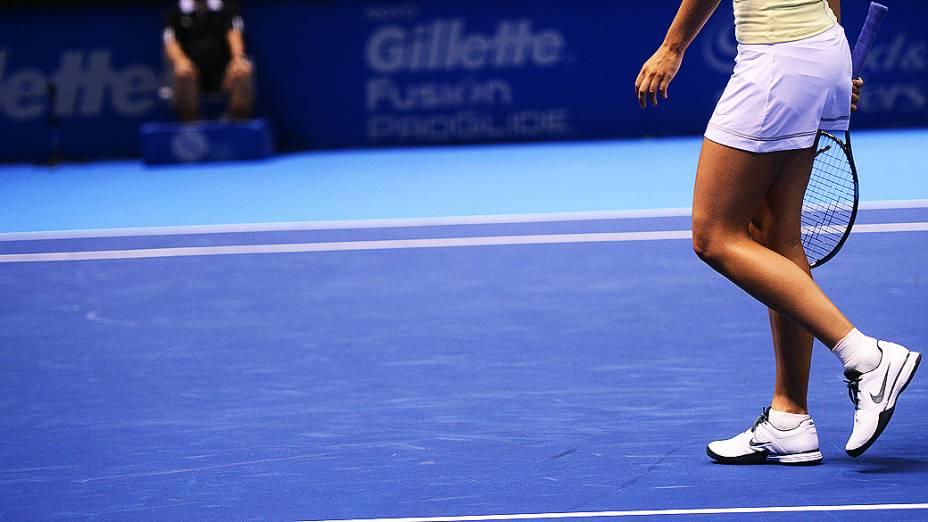 Maria Sharapova durante Gillete Federer Tour, no ginásio do Ibirapuera em São Paulo