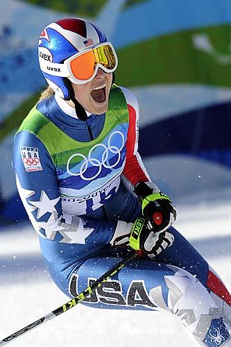 Ainda na quarta-feira, a musa americana Lindsey Vonn comemorou a medalha de ouro no esqui alpino, na Olimpíada de Vancouver.