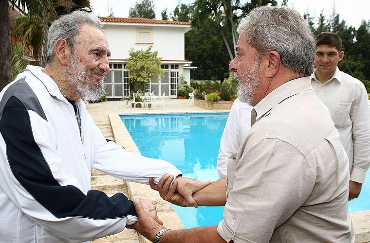 O presidente Luiz Inácio Lula da Silva se encontrou o ditador cubano Fidel Castro na quarta-feira, em Havana.