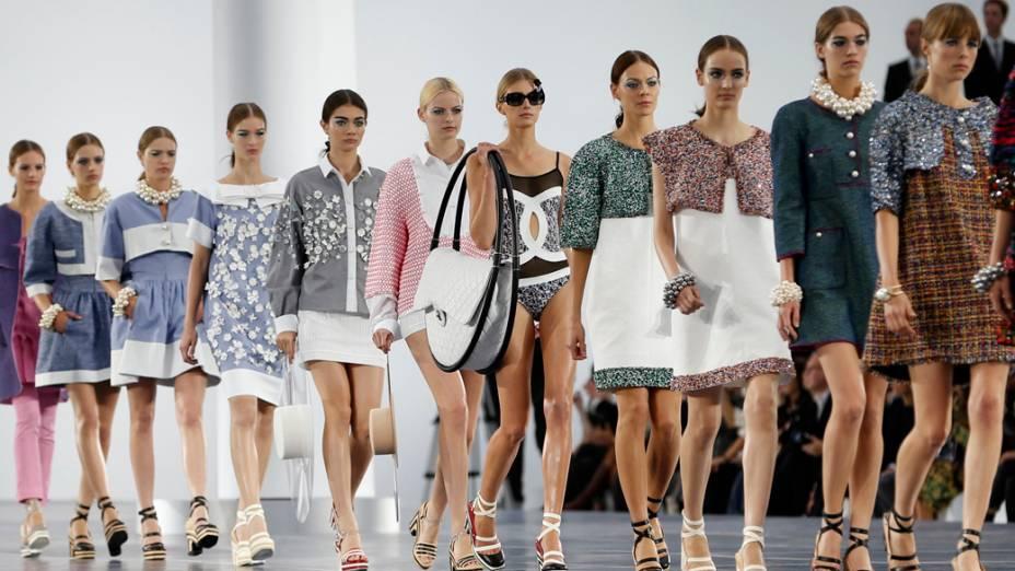 Desfile da grife Chanel na Semana de Moda de Paris